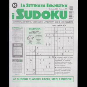 La settimana enigmistica - i sudoku - n. 116 - 8 ottobre 2020 - settimanale