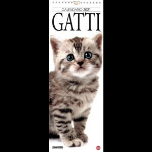 """Calendario 2021 """"Gatti"""" - cm. 15 x 41 con spirale"""