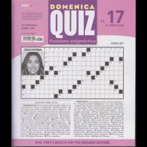 Domenica Quiz - n. 17 - 25 aprile 2019 - settimanale
