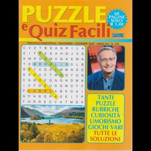 Puzzle e Quiz Facili - n. 278 - bimestrale - novembre - dicembre 2020 - 68 pagine