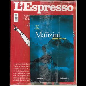 L'espresso - settimanale n. 42 del 13/10/20 + Italia in giallo vol. 2