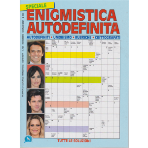 Speciale Enigmistica autodefinitia - n. 104 - trimestrale - novembre - gennaio 2021