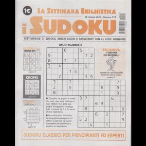 La settimana enigmistica - i sudoku - n. 117 - 15 ottobre 2020 - settimanale