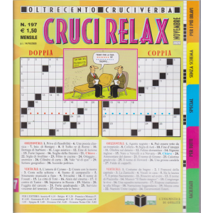 Cruci Relax - n. 197 - mensile - 14/10/2020 - oltre 100 cruciverba