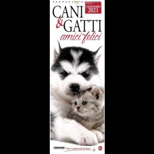 Calendario 2021 Cani e gatti... amici felici cm.15 x 41 c/spirale