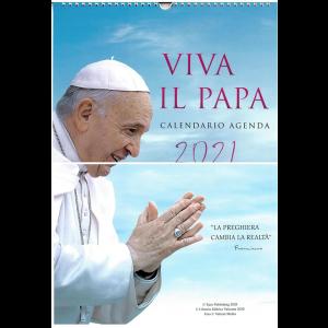 Calendario-Agenda Viva il Papa 2021 - cm. 29 x 42 con spirale