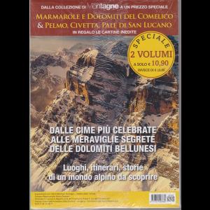 Dalla collezione di Meridinai Montagne - Marmarole e Dolomiti del Comelico & Pelmo, Civetta, Pale di San Lucano - n. 106 - ottobre 2020 - 2 riviste + in regalo le cartine inedite