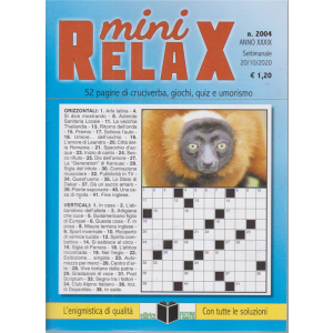 Mini Relax - n. 2004 - settimanale - 20/10/2020 -