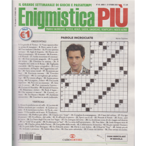 Enigmistica Piu' - n. 43 - 27 ottobre 2020 - settimanale