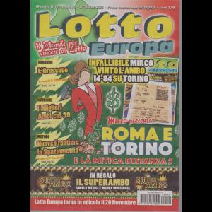 Lotto Europa - n. 10 - mensile - ottobre 2020 -