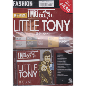 Music Fashion Var.33 - I miti anni 60 - 70 - Little Tony the best - rivista + cd - n. 6 - 20 ottobre 2020