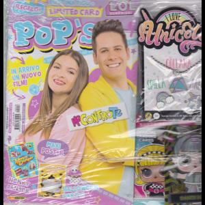 Pop's - n. 228 - mensile - 13 ottobre 2020 + gadget I love unicorn colana + spilla + anello + bustina figurine Lol surpirise!