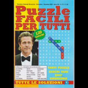 Puzzle Facili per tutti - n. 76 - bimestrale - novembre - dicembre 2020 - 120 giochi