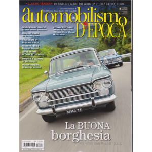 Automobilismo  d'Epoca - n. 10 - ottobre 2020 - mensile