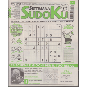 Settimana Sudoku - n. 794 - settimanale - 30 ottobre 2020