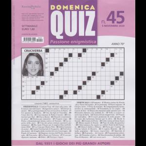 Domenica Quiz - n. 45 - 5 novembre 2020 - settimanale