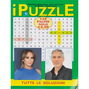 I Puzzle - n. 56 - trimestrale - novembre - gennaio 2021 - 132 pagine