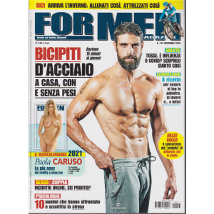 For Men Magazine - n. 213 - novembre 2020 - mensile