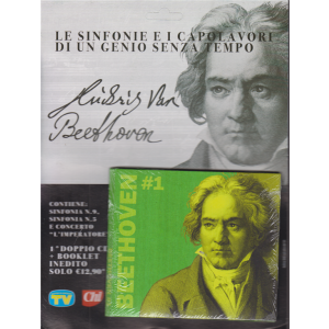 Cd Musicali di Sorrisi - n. 33 - Le sinfonie e i capolavori di un genio senza tempo - Luidwig Van Beethoven - 1° doppio cd + booklet - 3/11/2020 - settimanale