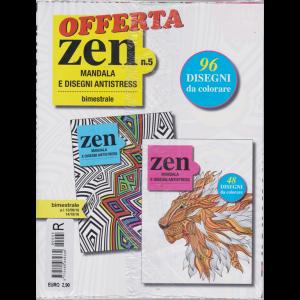 Offerta .Zen Mandala  e disegni antistress - n. 5 - bimestrale - 13/9/2016 - 14/10/2016 -