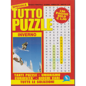 Speciale Tutto Puzzle inverno  - n. 97 - trimestrale - dicembre - febbraio 2021 - 196 pagine