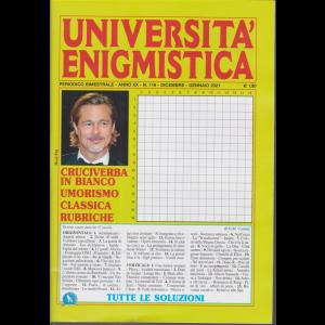 Università enigmistica - n. 118 - bimestrale - dicembre - gennaio 2021 -