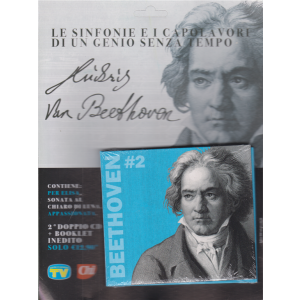 Cd Musicali di Sorrisi - n. 1 - Ludwig Van Beethoven - settimanale - doppio cd + booklet inedito
