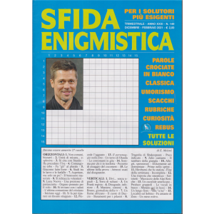 Sfida Enigmistica - n. 149 - trimestrale - dicembre - febbraio 2020