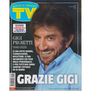 Sorrisi e Canzoni Tv - n. 45 - settimanale - 10 novembre 2020