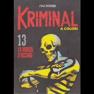 Kriminal - La morsa d'acciaio - n. 13 - Max Bunker - A colori