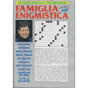Famiglia Enigmistica - n. 204 - bimestrale - dicembre - gennaio 2021 -