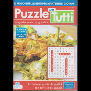 Puzzle per tutti - n. 111 - Enogastronomia enigmistica - bimestrale - 2/11/2020 -