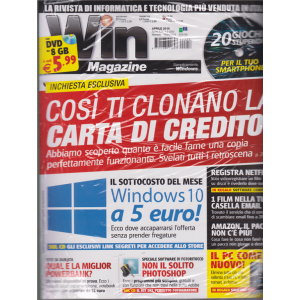 Win Magazine + dvd - n. 256 - mensile - 19/4/2019 - rivista + dvd