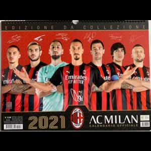 Calendario ufficiale 2021 Milan orizontale -  cm 43 x 33 con spirale