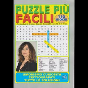 Puzzle Piu' Facili - n. 75 - bimestrale - dicembre - gennaio 2021 - 110 giochi