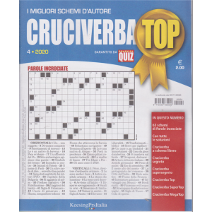 Cruciverba Top - n. 4 - 20/11/2020 - trimestrale -