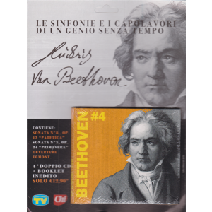 Cd Musicali di Sorrisi - n. 3 -Ludwig Van Beethoven - 24/11/2020 - settimanale - 4° doppio cd + booklet inedito
