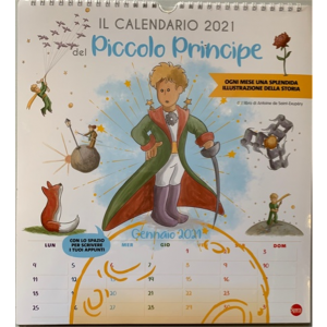 Calendario 2021 del Piccolo Principe - cm. 27.5 x 30 con spirale
