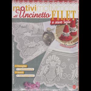 Motivi all'uncinetto -  Filet e non solo - n. 33 - bimestrale - dicembre - gennaio 2021 - 2 riviste