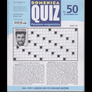 Domenica Quiz - n. 50 - 10 dicembre 2020 - settimanale
