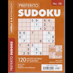 Preferito Sudoku - n. 58 - livelli 3-4 intermedio - bimestrale .