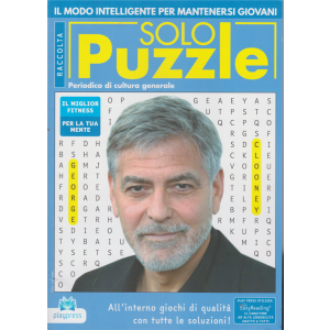 Raccolta Solo puzzle - George Clooney - n. 66 - 30/11/2020 - bimestrale