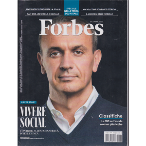 Forbes + Forbes Responsability - n. 38 - dicembre 2020 - mensile - 2 riviste