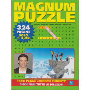 Magnum Puzzle - n. 64 - trimestrale - gennaio - marzo 2021 - 324 pagine