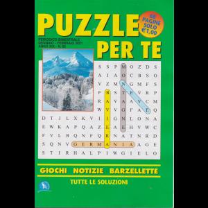 Puzzle per te - n. 65 - gennaio - febbraio 2021 - bimestrale - 68 pagine