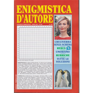 Enigmistica d'autore - n. 204 - bimestrale - gennaio - febbraio 2021 -