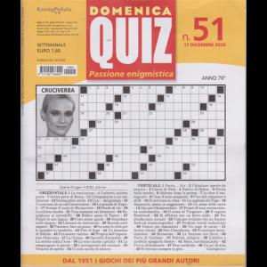 Domenica Quiz - n. 51 - settimanale - 17 dicembre 2020