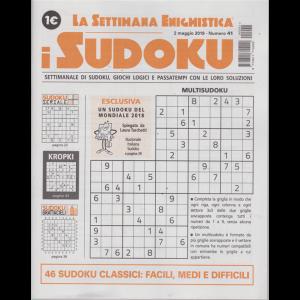 La settimana enigmistica - i sudoku - n. 41 - 2 maggio 2019 - settimanale