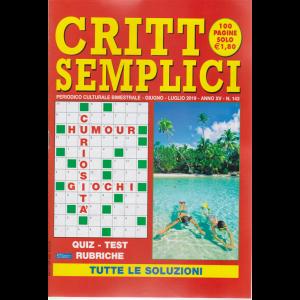 Critto Semplici - n. 143 - bimestrale - giugno - luglio 2019 - 100 pagine