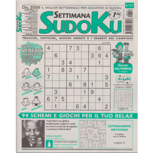 Settimana Sudoku - n. 717 - settimanale - 10 maggio 2019 -
